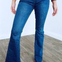 Perfect Flare Jeans: Dark Denim