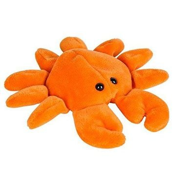 Wildlife Tree 3.5 Inch Crab Mini Small Stuffed Animals Bulk Bundle of Ocean Animal Toys or Sea Party Favors for Kids Pack of 12