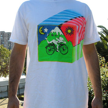 The bicycle day fluorescent tshirt UV Albert Hoffman lsd trip