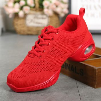 women's jazz slip on dance sneakers Dance Shoes Women Jazz Hip Hop Shoes  Sneakers for Woman Feature Soft Outsole Breath Dance