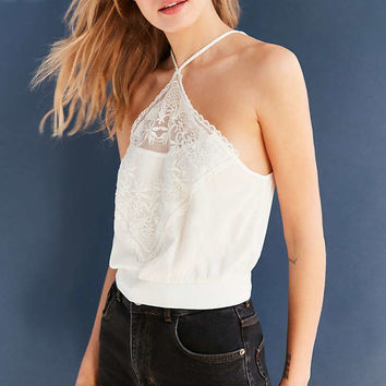 Kimchi Blue Jesse Lace Bib Halter Top - Urban Outfitters