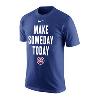 Nike Chicago Cubs Royal 2016 World Series Bound Make Someday Today T-Shirt