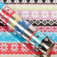 Knitted 3m roll wrapping paper | Paperchase