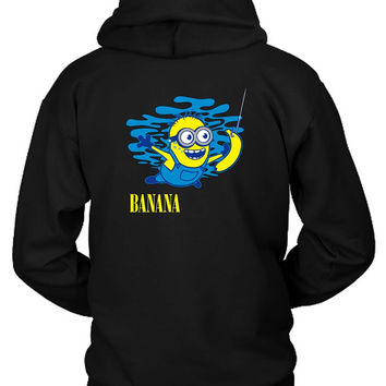 Minion Banana Water Hoodie Two Sided