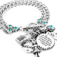 Sister Jewelry Set, Matching Bracelets for Sisters, 2 Charm Bracelets