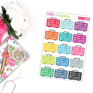 Flight Tracker Planner Stickers for the Erin Condren Life Planner, Flight Sticker, Flight Planner Sticker, Flight Planner Sticker - [P0339]