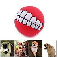 Patgoal Pet Dog Ball Teeth Silicon Toy Chew Squeaker Sound Dogs Play Toys | furryface
