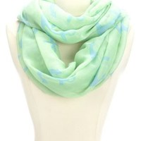 Anchor Print Infinity Scarf by Charlotte Russe