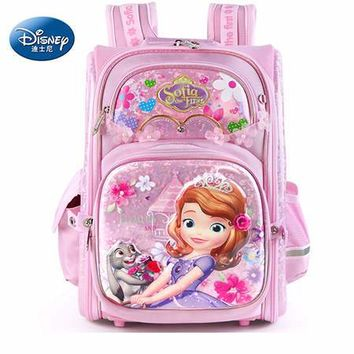 School Backpack Disney 2018 Frozen&Snow White Protect the Spine Backpacks Fashion Schoolbag Kids Backpack Kid School Bags for Girls Grade 1-4 AT_48_3