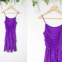 Vintage Purple Mini Party Dress