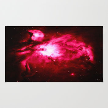 Orion Nebula Hauntingly Beautiful Fuchsia  Area & Throw Rug by 2sweet4words Designs