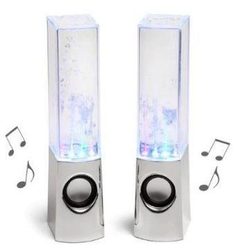 Autek Music Fountain Mini Amplifier Dancing Water Speakers (White)