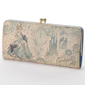 Disney leather coin purse wallet Cinderella 747-479