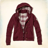 Flannel-lined Toggle Hoodie