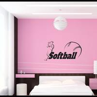 Softball teen girl bedroom Wall art, wall decal, wall quote, vinyl lettering, vinyl wall quote Softball teen girl bedroom