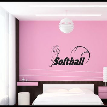 Nice Softball Teen Girl Bedroom Wall Art, Wall Decal, Wall Quote, Vinyl  Lettering,