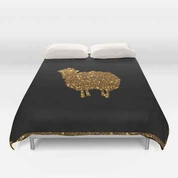 Golden sheep you are special  Duvet Cover by Xiari