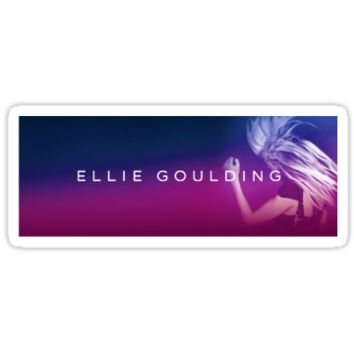 Ellie Goulding Sticker, Pillow, and Tote Bag
