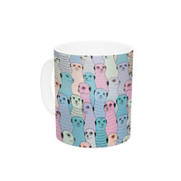 "Snap Studio ""Ferret Wheel"" Multicolor Ceramic Coffee Mug"