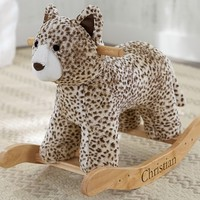 Tan Snow Leopard Rocker | Pottery Barn Kids