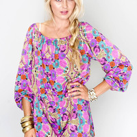 Wild Bloom Print Rane Romper by Show Me Your Mumu