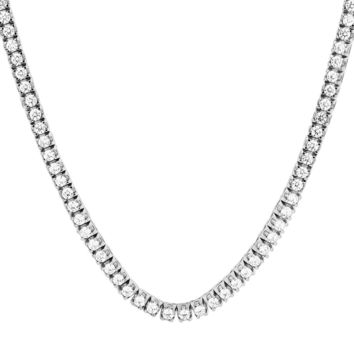 "Custom One Row Prong Set Solitaire thick 18-24"" Tennis Chain"