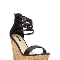 Bombshell Strappy Wedges