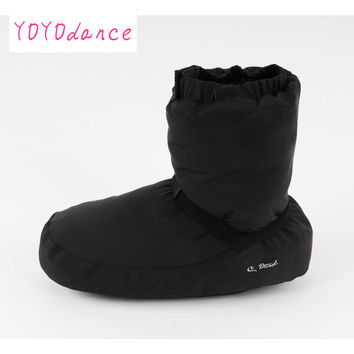 Ladies black purple grey ballet castle Flo Ballet Dance Warm Boot  fit for 23cm to 26.5cm foot length warm-up booties 12005