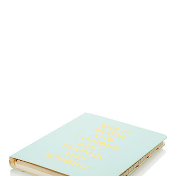 Kate Spade Quick And Curious Spiral Notebook Light Blue ONE