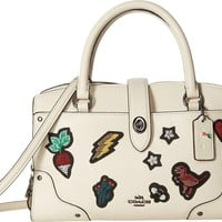 COACH Womens Souvenir Embroidery Mercer 24 Satchel