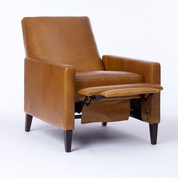 Sedgwick Recliner, Leather, Cognac