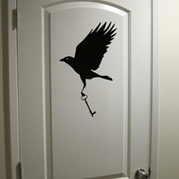 Thieving Crow with Key - Wall Decal