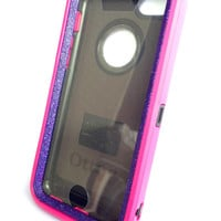 OtterBox Defender Series Case iPhone 5c Glitter Cute Sparkly Bling Defender Series Custom Case Peony pink/ purple