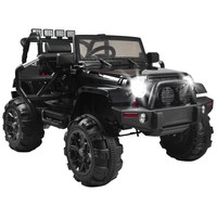 12V Kids 3-8 Years Old Ride On Car SUV MP3 RC Remote Control LED Lights Black US Warehouse Directly Shipping 7-10 Days Delivery