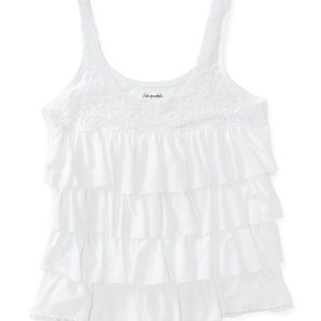 Solid Lace Cupcake Tank