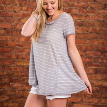 Peace Of Mind Top, Gray
