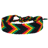 Wide Rasta Friendship Bracelet on Sale for $3.95 at The Hippie Shop