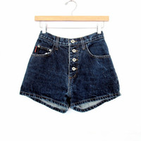 90's High rise denim shorts size - S