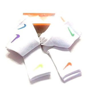 NIKE TODDLER KIDS SOCKS SIZE 6-7/13C-3Y WHITE/ASSORTED SWOOSH