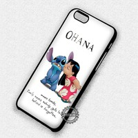 Ohana Quote Lilo and Stitch Cute - iPhone 7 6 5 SE Cases & Covers