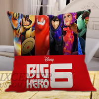 Disney Big Hero 6 on square pillow cover 16inch 18inch 20inch