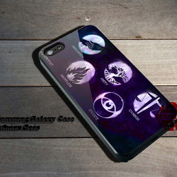 Divergent factions nebula iPhone 5/5S/5C/4/4S, Samsung Galaxy S3/S4, iPod Touch 4/5, htc One X/x+/S Case