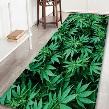 Coral Velvet Greenery Indoor Large Area Rug