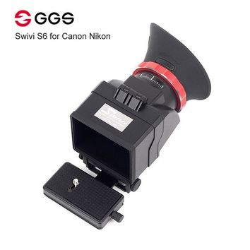 "GGS Swivi S6 Viewfinder with 3""/3.2"" LCD Screen for Canon 5D2 5D3 6D 7D 70D 750D 760D Nikon D7000 D7200 D750 D610 D810 D800"