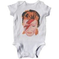 David Bowie Baby Bodysuit – Illustrated and Handmade in the USA