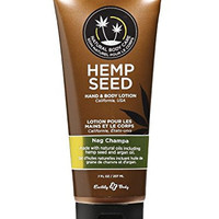 All Natural Earthly Body Hand and Body Lotion with Hemp Seed and Argan Oil - Nag Champa 7 oz.