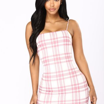 Total Betty Plaid Dress - Pink