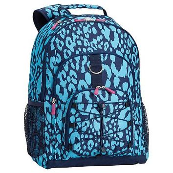 Gear-Up Bright Blue Cheetah Backpack