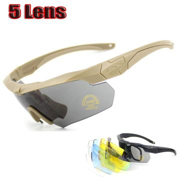CROSSBOW Military Goggles 3/5Lens TR 90 Men Sunglasses military man Army Bulletproof Outdoor sports Cycling glasses