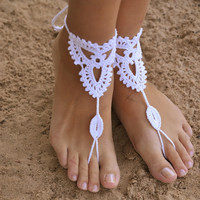 Ladies Shiny Cute New Arrival Gift Jewelry Sexy Stylish Hot Sale Knit Handcrafts Cotton Yoga Beach Sandals Anklet [6048658369]
